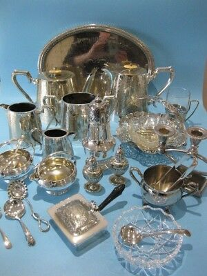 Beautiful Large Job Lot of Mixed Antique & Vintage Silver Plated Items