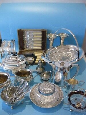 Good Large Job Lot of Very Nice Mixed Antique & Vintage Silver Plated Items