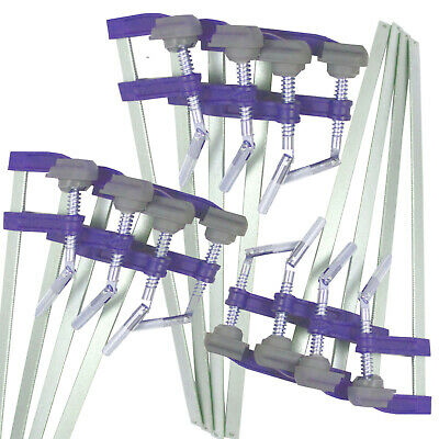 "F Clamps Bar Clamp 12pc Set Brick Profile Clamp 300 x 50mm 12"" Long"