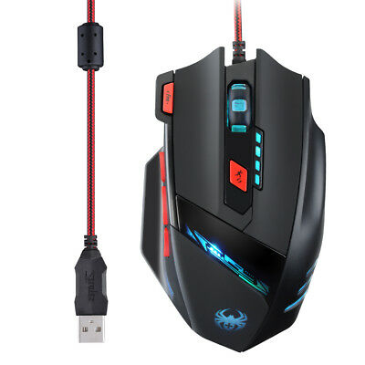 9200 DPI Gaming Mouse Optical Mouse 8 Buttons High Precision for PC US STOCK