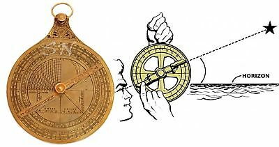 French Astrolabe Historical Brass Rashi Hanging Marine Vintage Antique Brass