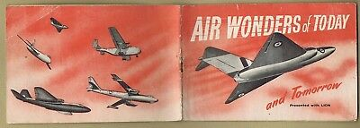 Lion Comic Free Gift 1952 Air Wonders Of Today Booklet