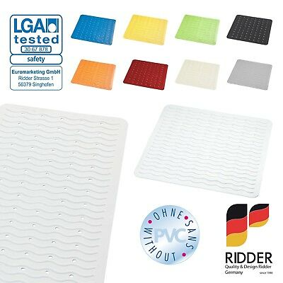 RIDDER Bathroom Shower mat / Bath mat safety anti non slip rubber suction cups