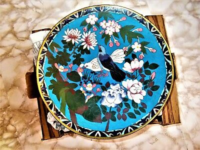 LARGE (30 CM'S) ANTIQUE 19th CENTURY CHINESE CLOISONNE CHARGER