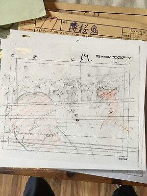 Anime Production Genga Douga Set Sketch Prince of Tennis not Cel Golden Pair