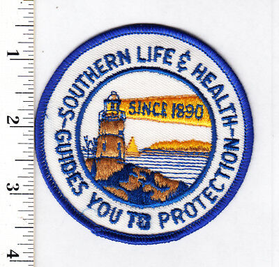 Southern Life Insurance Illustrated Lighthouse Embroidered Patch...NICE...#24ta