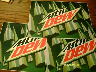 Lot Of 3 Mountain Dew Stickers