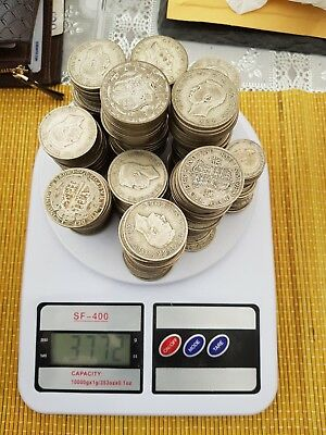 3.983 KG pre 1947 silver british coins not scrap 3983g for investment (255 H/RNS