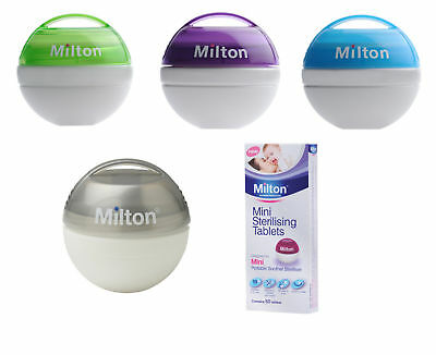 Milton Mini Soother Steriliser with 10 free tablets - Fast & Free P&P