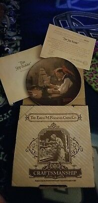 1980 Norman Rockwell THE SHIP BUILDER Collector Plate New in Box