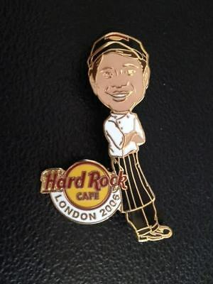 Hard Rock Cafe LONDON 2006 STAFF MEMBER 'Cecil' Chef Pin Badge  LE160 # 1 of 8