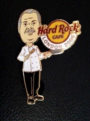 Hard Rock Cafe LONDON 06 STAFF MEMBER Chef Guvnor Boss Pin Badge  LE160  3 of 8