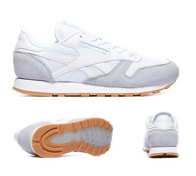 88719163524 Womens Reebok Classic Leather SPP White Cloud Black Trainers (PF27) RRP £