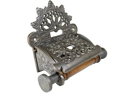 Toilet Roll Holder Lidded - Cast Iron Antique Style