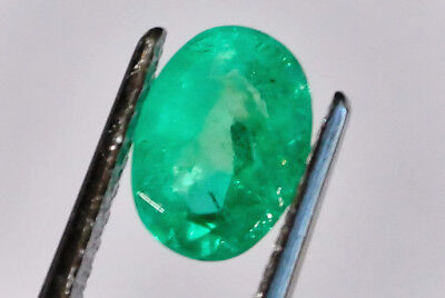Emerald natural stone 0.91 carat oval 7 x 5 mm NB More Gems Available
