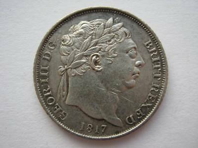 1817 Sixpence VF cleaned