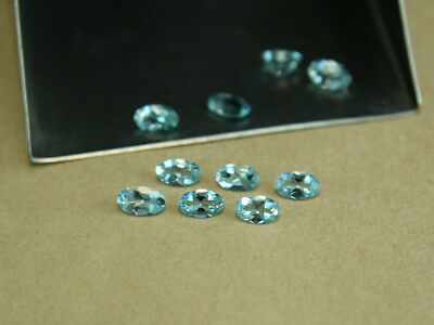 10 Pcs Lot AAA++ Natural Blue Aquamarine Oval Shape Faceted Loose Gemstone 3x5MM