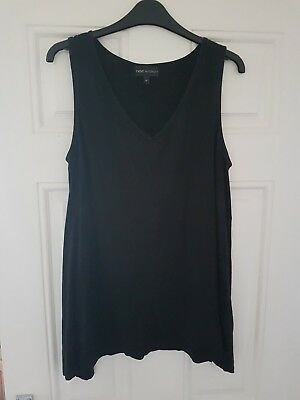 Black Maternity Vest Top By Next. Size 14