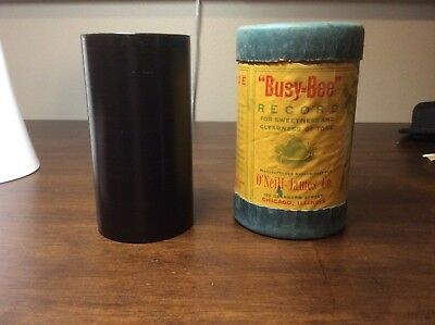 Busy Bee cylinder record with original box and inside label