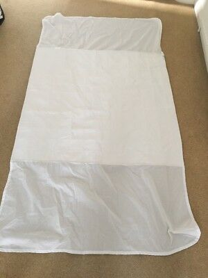 """""""Brolly Sheet"""" - Waterproof Bed Pad with Wings - SINGLE - White"""