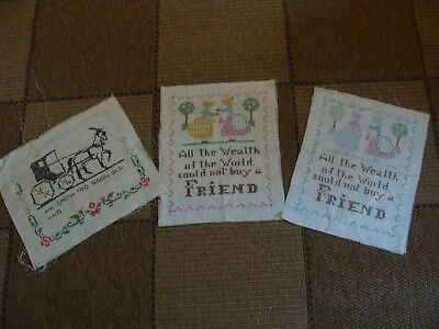3 Vintage Samplers ~ 1 completed ~ 2 for you to complete