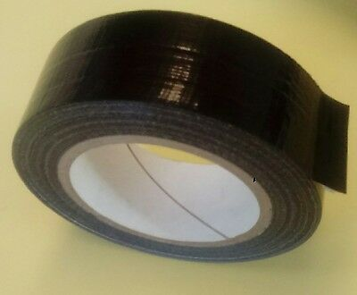 BLACK Duct Gaffer Waterproof Cloth Tape 48mm x 50 m