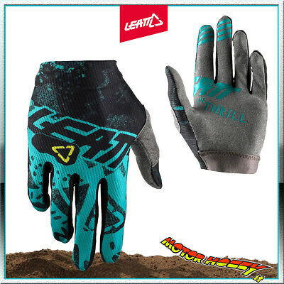 Guanto Glove Cross Enduro Quad Leatt Gpx 1.5 Gripr Tech Blue Taglia S