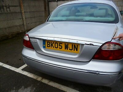 jaguar s type boot lid colour code mdz silver  complete  delivery? 2005 car