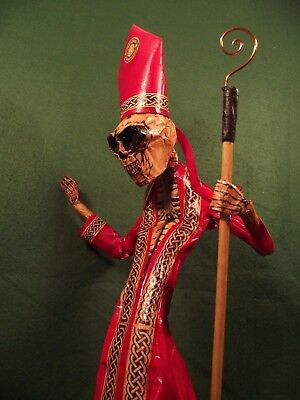 Day of Dead Figure Cardinal Papa Occult Voodoo Horror Carnival of Dead Statue