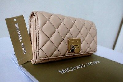 5b459d072842 MICHAEL KORS ASTRID Quilted Carry all Wallet in Nude - $62.99 | PicClick