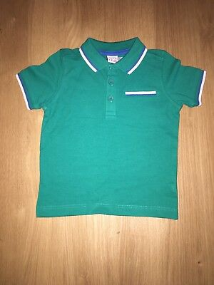 Mini Club Boy Green Polo Shirt 12-18 Months New With Tags