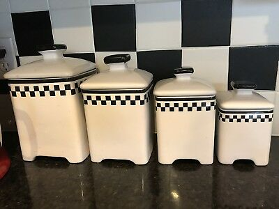 BLACK & WHITE Ceramic Canister Set