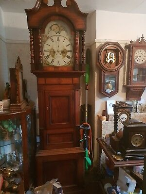 Eight Day Long Case Clock Spares Or Repair