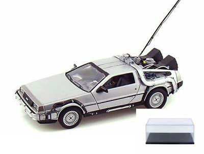 Diecast Car & Case Back To The Future Delorean Time Machine Welly 22443W/24 1/24