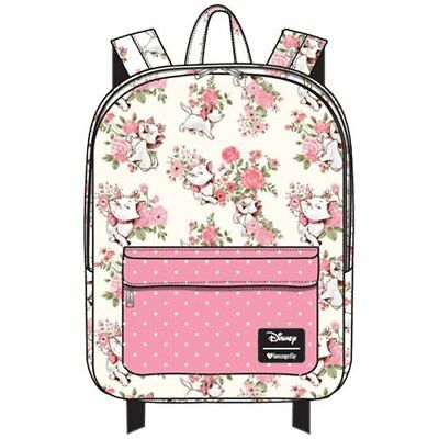 NWT LOUNGEFLY DISNEY The Aristocats Marie Floral Print Nylon Backpack