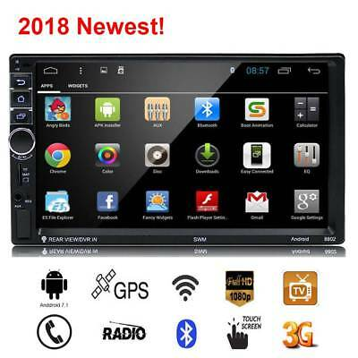 """In-Dash HD 7"""" Double 2Din Bluetooth Car Stereo Radio FM/MP5 Player Touch Screen"""