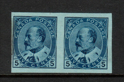 Canada #91a Mint Fine - Very Fine Imperf Pair Ungummed As Issued