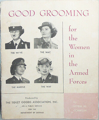 Rare-1955 -WAC/WAVES/WAF/USMC WR- Vintage Good Grooming Women's Military Booklet