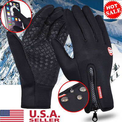 Men Women Winter Windproof Insulated Gloves Outdoor Warm Thermal Riding Mittens