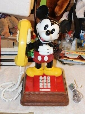 VINTAGE 1979 THE MICKEY MOUSE PHONE TELEPHONE PUSH BUTTON Land Line