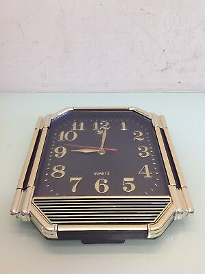Vintage Retro Quartz Wall Clock Tested And Works
