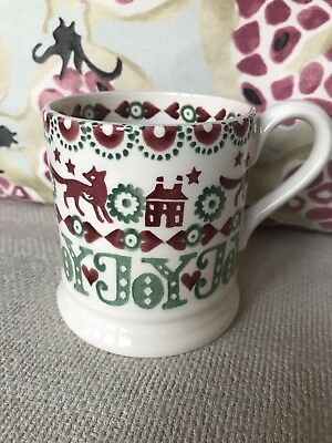 Emma Bridgewater New Joy Half Pint Mug, First Quality, House And Fox