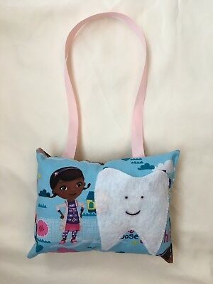 tooth fairy pillow girl Doc McStuffins Blue Pink Bed Post Or Door Hanging New