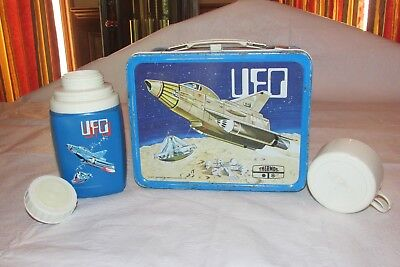 Vintage 1973 UFO Metal Tin Lunchbox & Thermos by Thermos