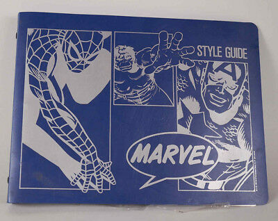 VTG 1989 Marvel Style Guide Prints Book Spiderman, Wolverine, The Hulk, Punisher