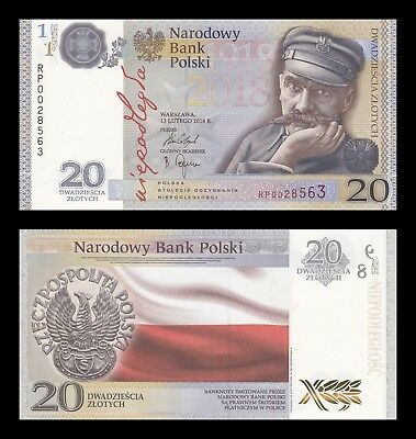 POLONIA POLAND 20 ZLOTYCH 2018. PICK NEW. IN FOLDER. SC. UNC (Uncirculated)