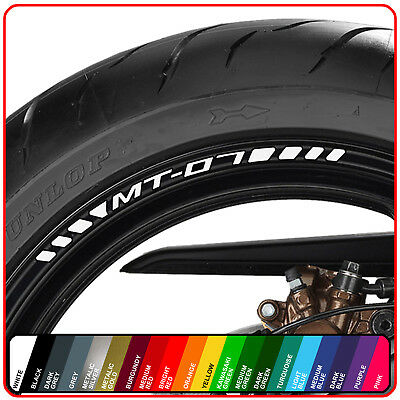 YAMAHA MT-07 wheel rim stickers decals - choice of 20 colours - mt07 700