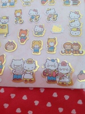 ganz seltener  Hello Kitty + Familie  Stickerbogen, Neu + Rar
