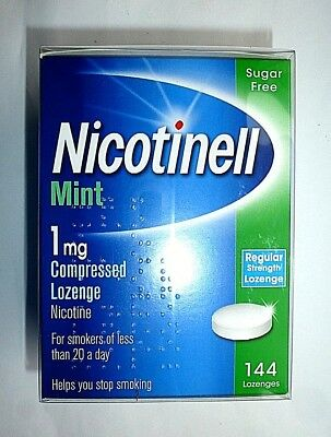 Nicotinell Nicotine 1mg Mint Compressed Lozenges (144)