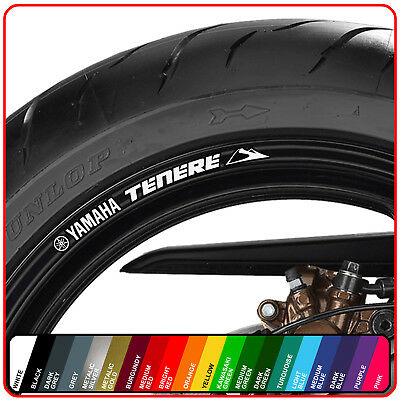 YAMAHA XT TENERE wheel rim stickers decals - choice of 20 colours - 1200 660